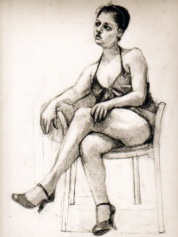 Life Drawing by Shanon Playford